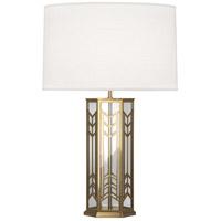 Robert Abbey 3386 Octavius 29 inch 150 watt Modern Brass Table Lamp Portable Light