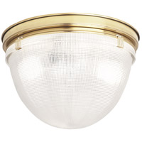 Robert Abbey 3392 Brighton 2 Light 14 inch Modern Brass Flushmount Ceiling Light thumb
