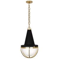 Robert Abbey 3394 Axel 1 Light 15 inch Modern Brass with Matte Black Pendant Ceiling Light