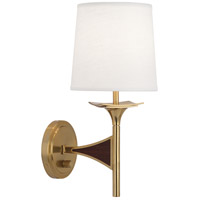 Robert Abbey 3397 Trigger 1 Light 5 inch Modern Brass with Walnut Wood Wall Sconce Wall Light in Walnuted Wood