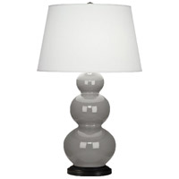 Smoky Taupe Triple Gourd Table Lamps