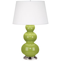 Robert Abbey 353X Triple Gourd 33 inch 150 watt Apple Table Lamp Portable Light in Antique Silver