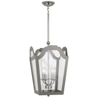 Williamsburg Tayloe 4 Light 15 inch Polished Nickel Pendant Ceiling Light in Smoky Taupe