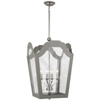 Robert Abbey 361 Williamsburg Tayloe 4 Light 20 inch Polished Nickel Pendant Ceiling Light in Smoky Taupe