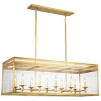 Williamsburg Tucker 10 Light 43 inch Antique Brass Pendant Ceiling Light