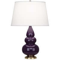 Robert Abbey 378X Small Triple Gourd 24 inch 150 watt Amethyst Accent Lamp Portable Light in Antique Brass