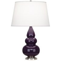 Robert Abbey 380X Small Triple Gourd 24 inch 150 watt Amethyst Accent Lamp Portable Light in Antique Silver