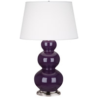 Robert Abbey 383X Triple Gourd 33 inch 150 watt Amethyst Table Lamp Portable Light in Antique Silver
