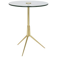 Robert Abbey 395 Martin 15 inch Modern Brass Side Table
