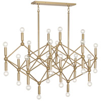Robert Abbey 399 Jonathan Adler Milano 30 Light 44 inch Polished Brass Chandelier Ceiling Light