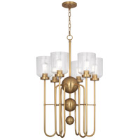 Robert Abbey 410 Williamsburg Tyrie 6 Light 20 inch Antique Brass Chandelier Ceiling Light