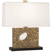Robert Abbey 416 Goliath 20 inch 100 watt Antiqued Modern Brass with White Rock Crystal Table Lamp Portable Light