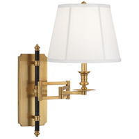 Robert Abbey 417 Williamsburg Lewis 15 inch 100 watt Modern Brass with Deep Patina Bronze Wall Swinger Wall Light