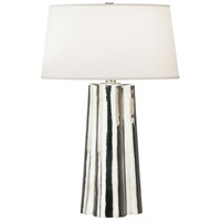 Robert Abbey 435 Wavy 26 inch 100 watt Silver Mercury Glass with Polished Nickel Table Lamp Portable Light