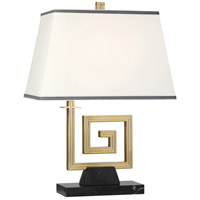 Robert Abbey 440 Jonathan Adler Mykonos 21 inch 100 watt Modern Brass Table Lamp Portable Light in Black Marble