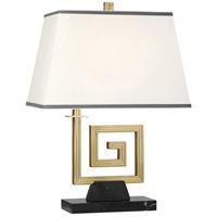 Robert Abbey 440 Jonathan Adler Mykonos 21 inch 100 watt Modern Brass Table Lamp Portable Light in Black Marble