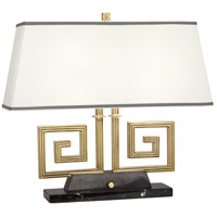 Robert Abbey 441 Jonathan Adler Mykonos 21 inch 60 watt Modern Brass Table Lamp Portable Light in Black Marble