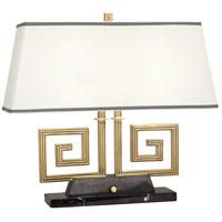 Robert Abbey 441 Jonathan Adler Mykonos 21 inch 60 watt Modern Brass Table Lamp Portable Light in Black Marble