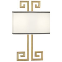 Robert Abbey 443 Jonathan Adler Mykonos 2 Light 12 inch Modern Brass Wall Sconce Wall Light