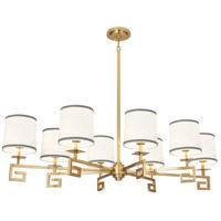 Robert Abbey 444 Jonathan Adler Mykonos 8 Light 45 inch Modern Brass Chandelier Ceiling Light