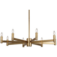 Robert Abbey 4500 Delany 9 Light 15 inch Antique Brass Chandelier Ceiling Light
