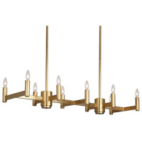 Robert Abbey 4501 Delany 12 Light 41 inch Antique Brass Chandelier Ceiling Light thumb