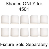 Robert Abbey Delany Shade Only (for fixture 4501) in Oyster Linen 4501N