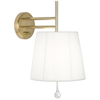 Robert Abbey 469 Annabelle 1 Light 10 inch Modern Brass Wall Sconce Wall Light in White String