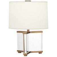 Robert Abbey 470 Fineas 16 inch 60 watt Aged Brass Table Lamp Portable Light in Fondine Fabric