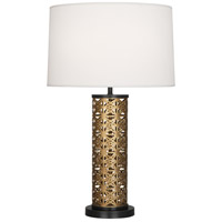 Robert Abbey 527 Williamsburg Etoile 30 inch 150 watt Warm Brass with Deep Patina Bronze Table Lamp Portable Light