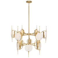 Robert Abbey 528 Jace 12 Light 32 inch Modern Brass Chandelier Ceiling Light