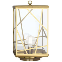 Robert Abbey 538 Michael Berman Bond 1 Light 23 inch Modern Brass Convertible Post Lantern Convertible to Pier Mount