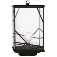 Robert Abbey 548 Michael Berman Bond 1 Light 23 inch Deep Patina Bronze Convertible Post Lantern Convertible to Pier Mount