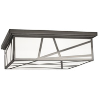 Robert Abbey 555 Michael Berman Bond 3 Light 18 inch Blackened Nickel Flushmount Ceiling Light
