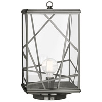 Robert Abbey 558 Michael Berman Bond 1 Light 23 inch Blackened Nickel Convertible Post Lantern Convertible to Pier Mount