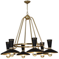 Robert Abbey 565 Vortex 6 Light 46 inch Modern Brass Chandelier Ceiling Light