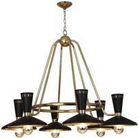 Robert Abbey 565 Vortex 6 Light 15 inch Modern Brass Chandelier Ceiling Light