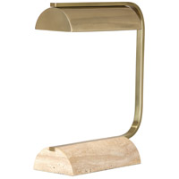 Robert Abbey 566 Julian 16 inch 60 watt Modern Brass Table Lamp Portable Light in Travertine Stone