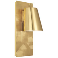 Robert Abbey 622 Michael Berman Brut 1 Light 7 inch Modern Brass Wall Sconce Wall Light