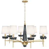 Robert Abbey 625 Cristallo 8 Light 41 inch Modern Brass / Smoke Crystal Chandelier Ceiling Light