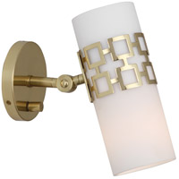 Robert Abbey Parker 1 Light Wall Sconce in Frosted White Cased Glass 639