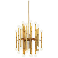 Jonathan Adler Meurice 30 Light 19 inch Modern Brass Chandelier Ceiling Light in Antique Natural Brass