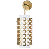 Robert Abbey 667 Jonathan Adler Parker 1 Light 7 inch Antique Brass Wall Sconce Wall Light