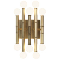 Robert Abbey 686 Jonathan Adler Meurice 10 Light 8 inch Modern Brass Wall Sconce Wall Light