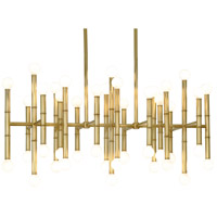 Jonathan Adler Meurice 42 Light 38 inch Antique Brass Chandelier Ceiling Light
