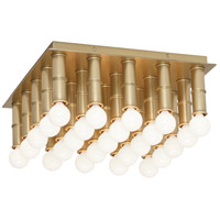 Jonathan Adler Meurice 25 Light 13 inch Antique Brass Flush Mount Ceiling Light