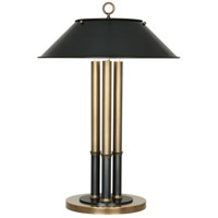 Robert Abbey 702 Aaron 26 inch 40 watt Warm Brass with Deep Patina Bronze Table Lamp Portable Light