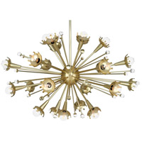 Robert Abbey 710 Jonathan Adler Sputnik 24 Light 34 inch Antique Brass with Crystal Chandelier Ceiling Light