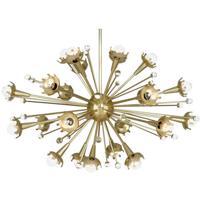 Robert Abbey 710 Jonathan Adler Sputnik 24 Light 15 inch Antique Brass Chandelier Ceiling Light