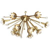 Jonathan Adler Sputnik 40 watt Antique Brass with Crystal Wall Swinger Wall Light